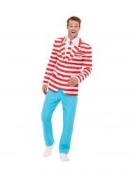 Wo ist Walter?™-Kostüm für Herren Faschings-Verkleidung weiss-rot-blau