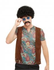 Buntes Hippie-Accessoireset für Herren 4-teilig