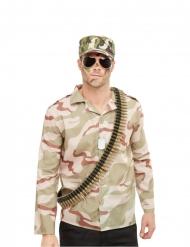 Soldaten Militär-Accessoire-Set für Fasching 4-teilig grün