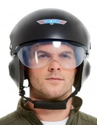 Top Gun™-Pilotenhelm für Erwachsene Accessoire für Fasching schwarz