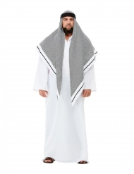 Orientalisches Scheich-Kostüm für Herren Faschings-Verkleidung weiss-grau
