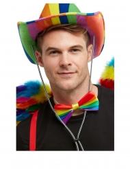 Gay Pride-Fliege Kostüm-Accessoire in Regenbogenfarben bunt
