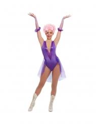 Trapezkünstlerin-Damenkostüm für Fasching Darstellerin violett