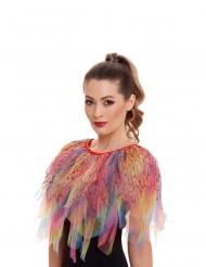 Kunterbunter-Umhang Vogel-Kostümzubehör für Damen bunt