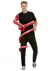Anaconda-Kostümzubehör Schlangen-Figur rot