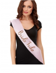 JGA-Schärpe für Damen Accessoire Bride Tribe rosa