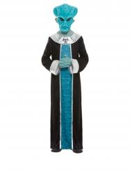 Space-Kostüm Alien-Verkleidung für Kinder Fasching blau