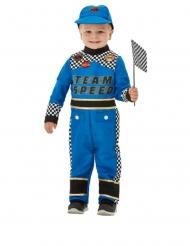 Rennfahrer-Kostüm für Kleinkinder blau