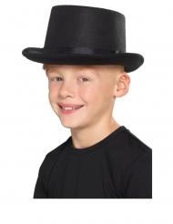 Zylinder für Kinder Accessoire für Fasching schwarz