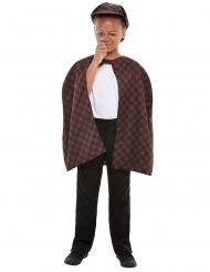 Detektiv-Kostüm-Set für Kinder Faschings-Verkleidung braun
