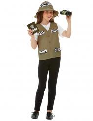 Safari-Forscherin Mädchenkostüm für Fasching 4-teilig bunt