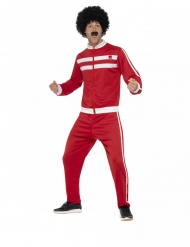 80er-Jahre-Trainings-Anzug für Herren Faschings-Verkleidung rot-weiss