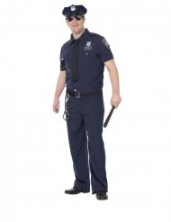 NYC-Polizei-Kostüm für Herren Beamten-Kostüm für Fasching blau-schwarz
