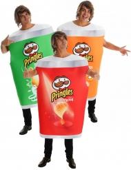 Lustiges Pringles™-Gruppenkostüm für Erwachsene 3-teilig grün-rot-orange