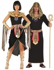 Ägyptisches-Partnerkostüm für Damen und Herren Fasching schwarz-gold