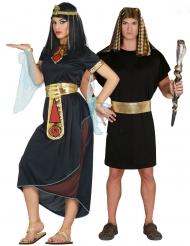 Ägyptisches-Partnerkostüm für Damen und Herren Pharao-Kostüme schwarz-gold