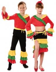 Tänzerisches-Paarkostüm für Jungen und Mädchen Rumba-Tänzer rot-grün-gelb