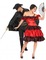 Partnerkostüm Rächer der Armen Faschings-Kostüm für Erwachsene schwarz-rot