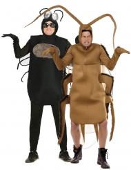 Witziges Kakerlaken und Fliegen Paarkostüm für Erwachsene