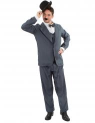 Schauspieler-Kostüm 20er Jahre Stummfilm-Verkleidung für Herren grau