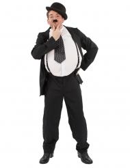 Lustiges Komiker-Kostüm für Erwachsene 20er-Jahre Faschings-Verkleidung schwarz-weiss