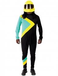 Berühmter Bob-Fahrer Herrenkostüm jamaikanischer-Sportler schwarz-türkis-gelb