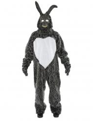Killerhasen-Kostüm Film-Verkleidung für Halloween grau-weiss