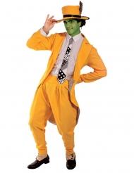 Film-Kostüm maskierter Komiker Herrenkostüm für Fasching gelb-weiss