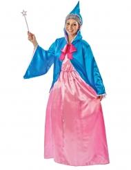 Alte Dame Feen-Kostüm für Fasching Märchen rosa-blau