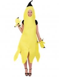 Bananen-Kostüm Früchte-Kostüm für Damen Fasching gelb