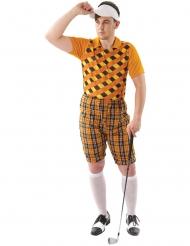 Golfer-Kostüm Sportler-Kostüm für Fasching orange-braun