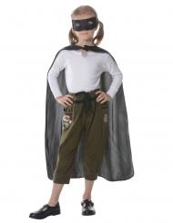 Superhelden Kostüm-Set Accessoires für Kinder 2-teilig schwarz