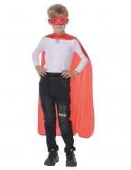 Tolles Superhelden-Kostüm-Set 2-teilig für Kinder Faschings-Zubehör rot