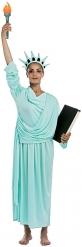 Freiheitsstatue-Damenkostüm für Fasching oder Themenpartys hellblau