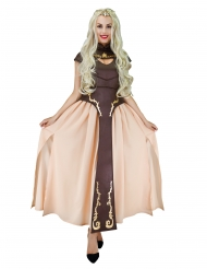 Mittelalterliches Prinzessinnen-Kostüm Serienfigur braun-beigefarben