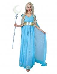 Prinzessinnen-Kostüm Mittelalter für Damen Faschings-Verkleidung blau-gold