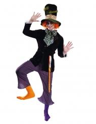 Hutmacher-Kostüm für Erwachsene Faschings-Verkleidung für Herren lila-schwarz
