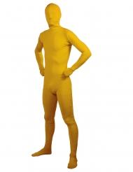 Second Skin-Ganzkörper-Anzug für Erwachsene Faschings-Verkleidung gelb