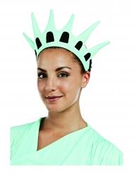 Krone der Freiheitsstatue Kostümzubehör für Fasching blau