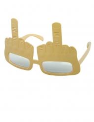 Humorvolle Mittelfinger-Brille Spaßbrille für Erwachsene hautfarben