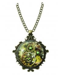 Steampunk-Collier viktorianische Halskette bronzefarben
