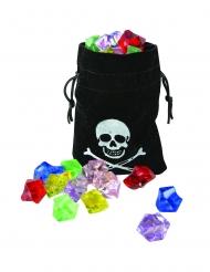 Piraten-Säckchen mit künstlichen Edelsteinen