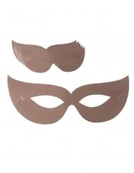 Party-Masken für Festlichkeiten Augenmasken 6 Stück roségold