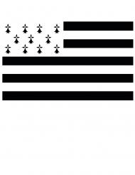 Bretagne-Flagge schwarz-weiss 150 x 90 cm