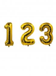 Zahlen-Folienballons Gold 85 cm