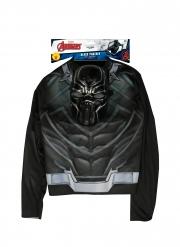 Black Panther™-Kostüm-Set Avengers™ für Jungen 2-teilig schwarz