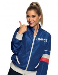 Frankreich-Jacke für Damen blau-weiss-rot
