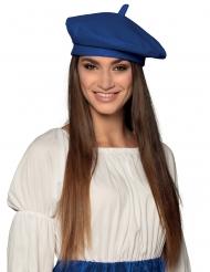 Klassische Baskenmütze für Erwachsene blau