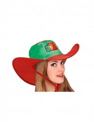 Fanhut Portugal-Hut für Erwachsene grün-rot