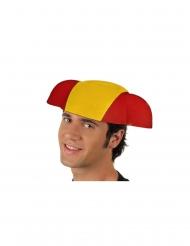 Fanhut Spanien-Hut für Erwachsene gelb-rot